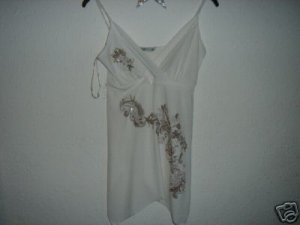 White Baby Doll Strappy Top