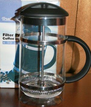 Trudeau Filter Press Coffee Maker 4-6 cup