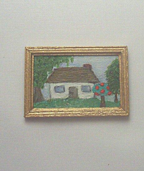 Folk Art House Painting