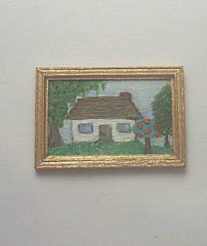 Folk Art House Painting