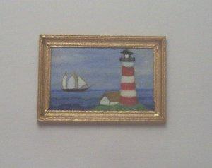 Folk Art Lighthouse Painting