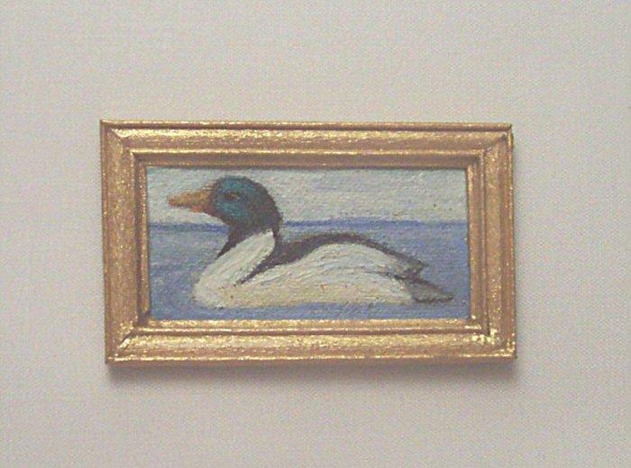 Merganser Duck Painting