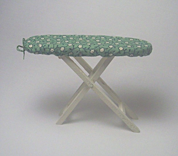Ironing Board--Green-White Floral Slip Cover