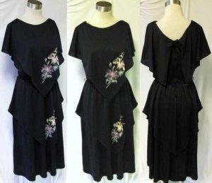 1970's vintage boho handpainted flower dress