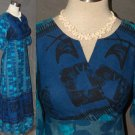 Vintage Hawaiian dress Alfred Shaheen kimono wrap XS SM