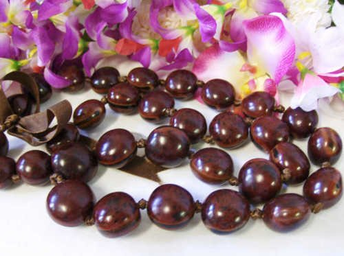 Hawaiian necklace lei hula beaded exotic artisan luau