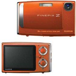 "Fujifilm FinePix Z10FD,3x Optical Zoom, 4.8x Digital Zoom, and 2.5"" LCD Screen, Sunset Orange, (ecf)"