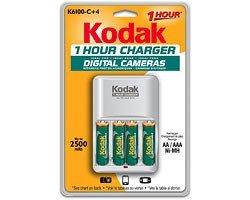 KODAK Ni-MH 1-Hour Battery Charger K6100-C+4