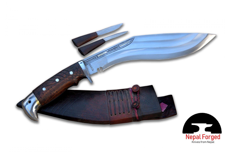 """10.5"""" 3 chirra American eagle handle-khukuri,gurkha knife,machete,sword,Nepal"""