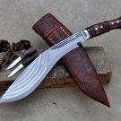 13 inches 5 chirra kukri-khukuri-gurkha knife-handmade kukri machete-sword