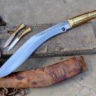13 inches blade Brass Handle Cheetlange kukri/khukuri knife-Handmade in Nepal