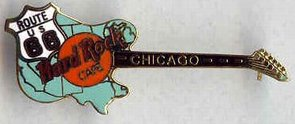 Chicago Rt 66 Guitar pin