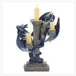 38202 Blue Dragon Candleholder
