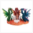35184 No Evil Dragons Candleholder