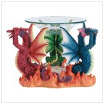 35185 No Evil Dragons Oil Warmer