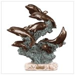 27251 Leaping Dolphins Sculpture