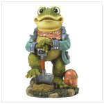 38008 Frog with Shovel Statue