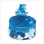 37112 Dolphins Snowglobe and Trinket Box