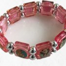 Saints Pink Religious Stretch Bracelet NEW
