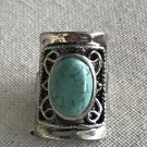 SALE!! Turquoise Decorative Silver Plated Square Ring Size 5 1/2 New
