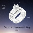 Bezel Set Engagement Ring Set 2 Ring Set Best Prices Online! Compare
