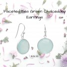 Faceted Sea Green Chalcedony Earrings Best Prices online!