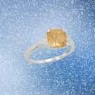 Sterling Silver Citrine and CZ Band Sterling Silver Best Prices online!