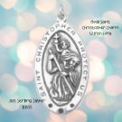 Saint Christopher Oval Charm