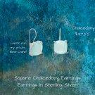 Square Chalcedony Earrings Earrings in Sterling Silver