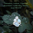Chalcedony, Larimar, Topaz and Moonstone Cluster Ring Sterling Silver Best Prices online!