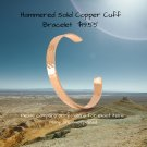 Hammered Solid Copper Cuff Bracelet 9.9 mm -- For Joint Pain