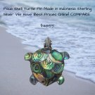 Paua Shell Turtle Pin/Pendant in Sterling Silver Check Prices online We have the best!