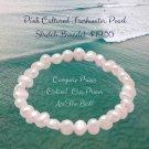Pink Cultured Freshwater Pearl Stretch Bracelet