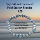 Sage Cultured Freshwater Pearl Stretch Bracelet Compare Prices Online!  Our Prices Are The Best!