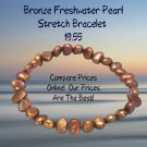 Bronze Cultured Freshwater Pearl Stretch Bracelet