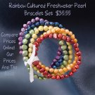 Rainbow Cultured Freshwater Pearl Bracelet Set
