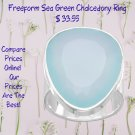 Free form Sea Green Sterling Silver Chalcedony Ring