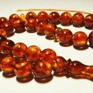 Islamic 33 prayer beads Natural Baltic Amber pressed Tasbih Rosary 26.74gr B-591