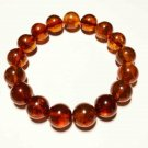 Amber bracelet Natural baltic amber bracelet pressed round beads 12.65gr. B-145