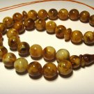 Islamic 33 Prayer beads Natural baltic Amber pressed beads Tasbih 26,9gr B-557
