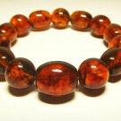 Amber bracelet Natural Baltic Amber pressed cognac beads unisex 18.17gr. B-185