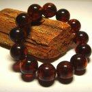 Amber bracelet Genuine baltic Amber pressed round beads unisex  24.32gr. B-558