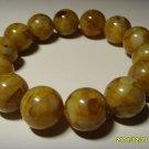 Genuine Baltic pressed  Amber Bracelet round  beads - 26.47 gr B-24