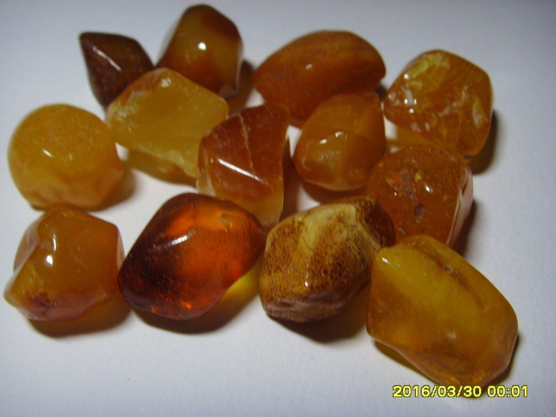 Natural Polished Genuine 13 unit  Baltic Amber Stones 20.28grams  N-42