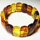 Amber Bracelet Natural baltic Amber Bracelet colorful beads unisex 15.77gr. A380