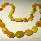 Amber Necklace Natural Baltic Amber yellow white flat beads 12.35grams   A-410