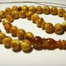 Amber rosary Islamic 33 Prayer beads Genuine Baltic Pressed Amber 35,60gr B-182