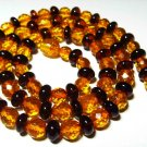 Amber Necklace Genuine Baltic Amber mixed colorful beads Ladies 12.34 gr. A-430