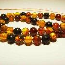 Islamic 45 Prayer beads Genuine Baltic Amber pressed Tasbih Misbaha 35.77grB-875