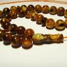 Islamic 33 Prayer beads Genuine Baltic Amber pressed  tasbih  20,41gr B-689